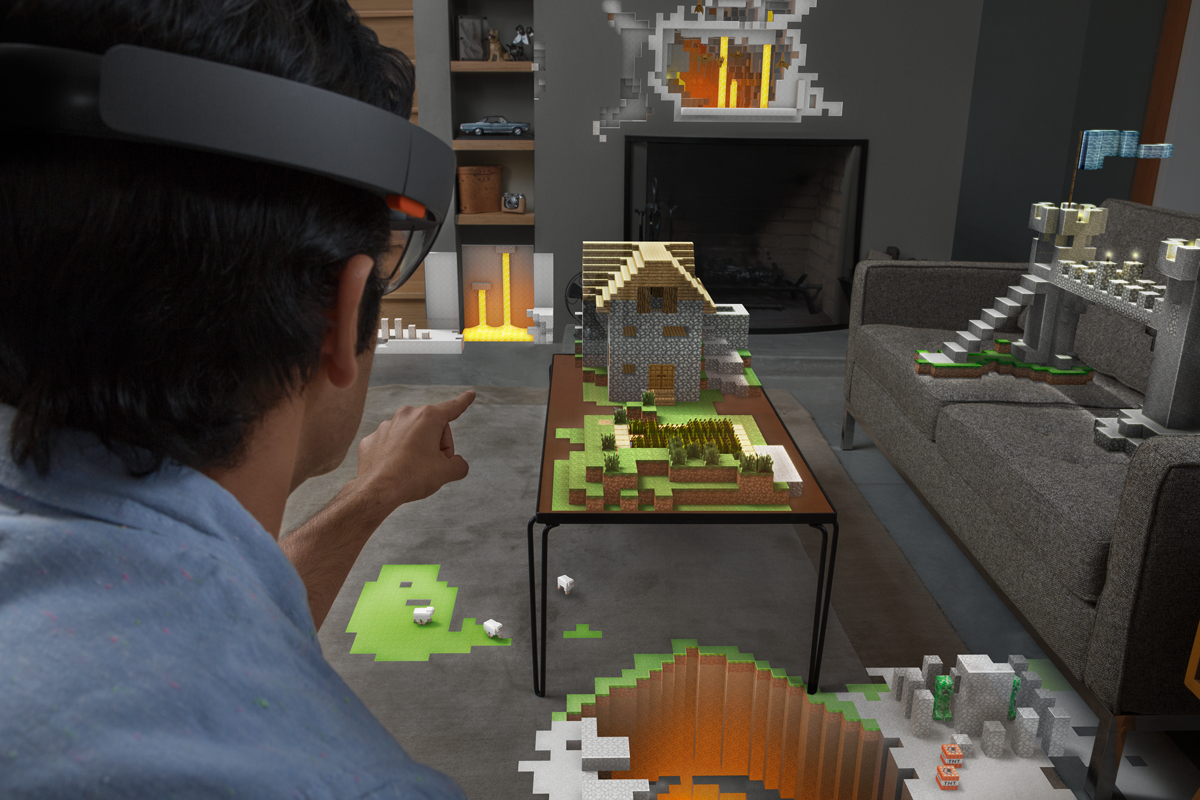 Microsoft HoloLens Wohnzimmer