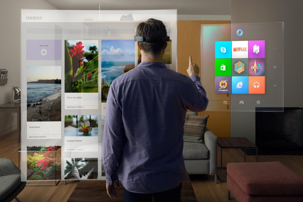 Microsoft HoloLens Gemischte Welt