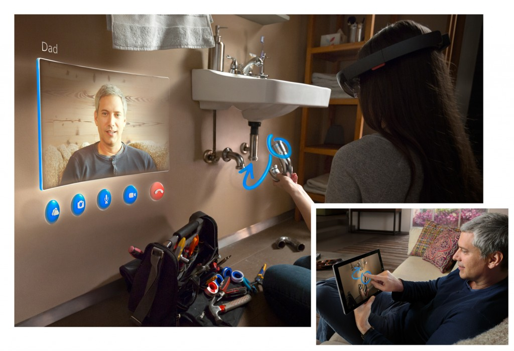 Microsoft HoloLens Skype