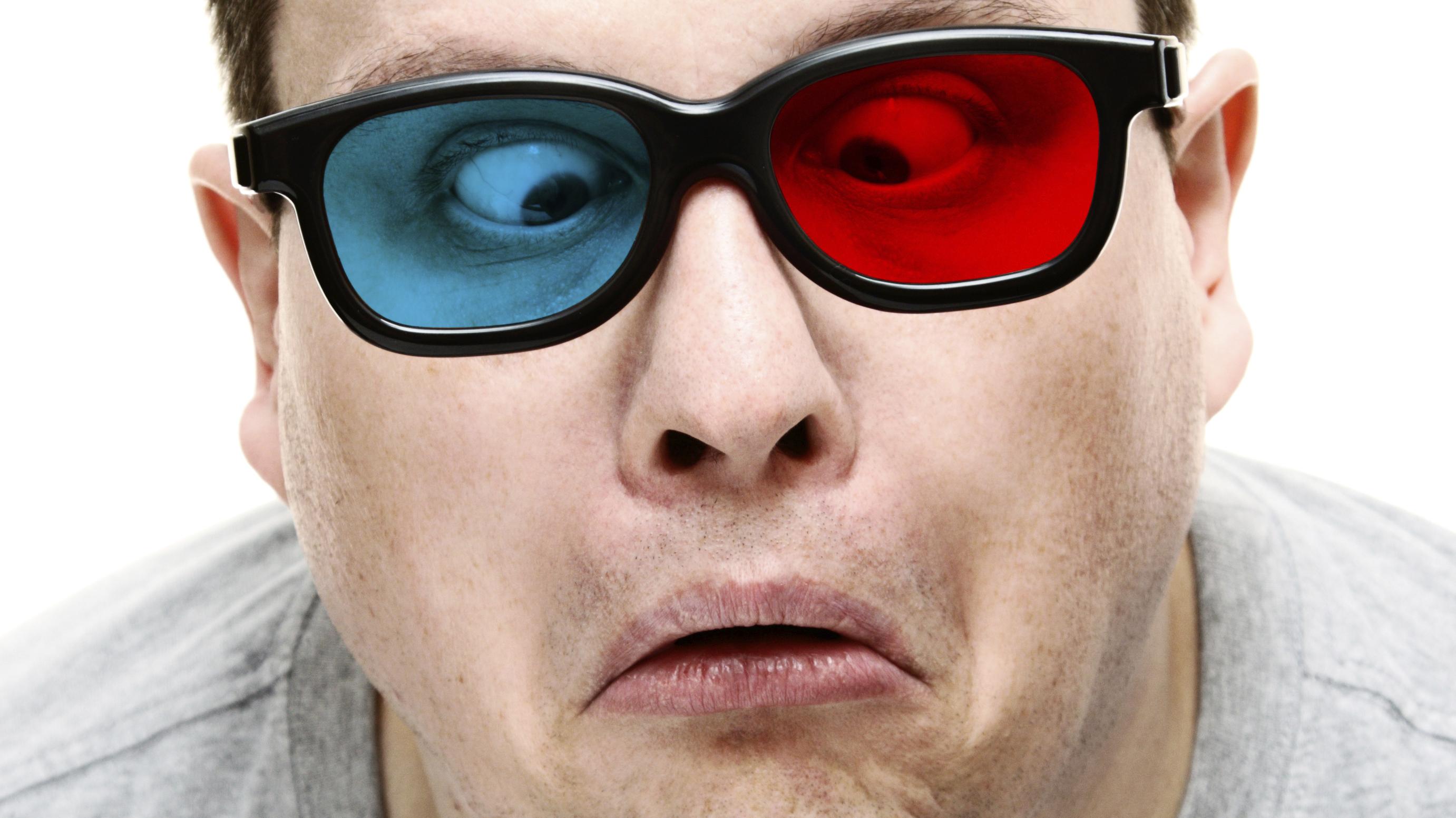 3D Rot-Blau Brille