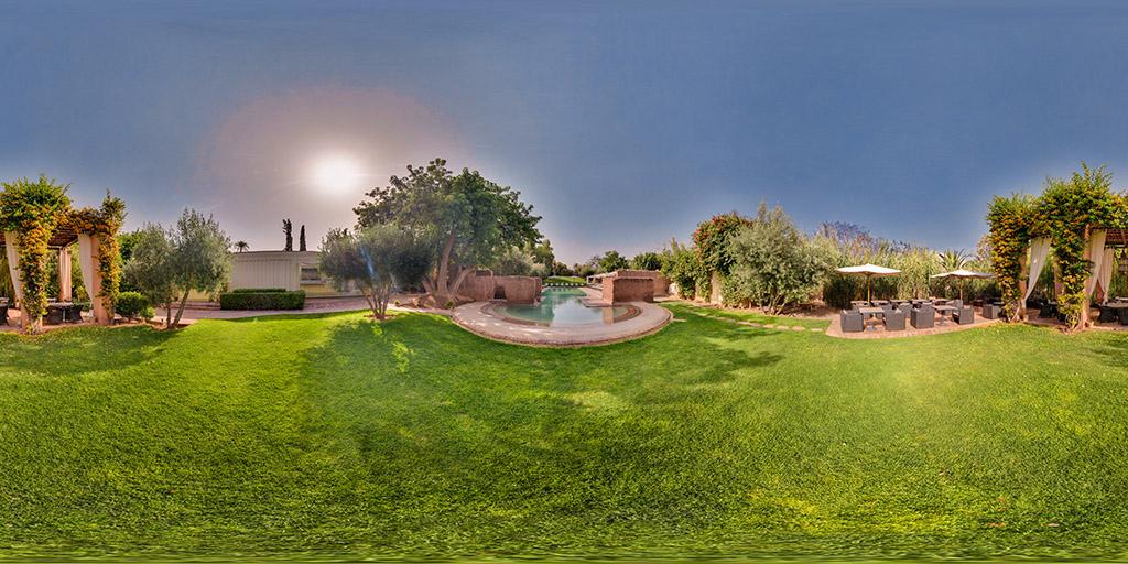 Vorschaubild fotografiertes Panorama Hotel Marrakech